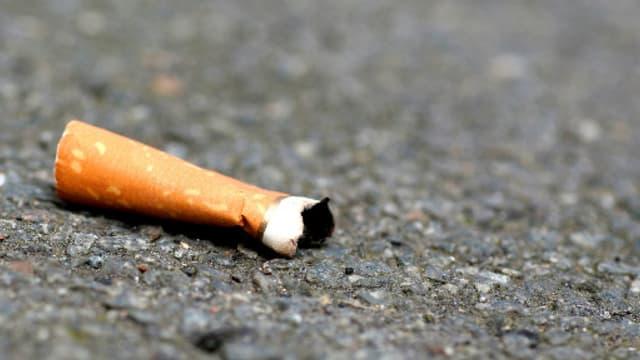 Un mégot de cigarette (Illustration)