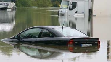 La ville de Troyes, ici sur la photo, a été particulièrement touchée par les crues.