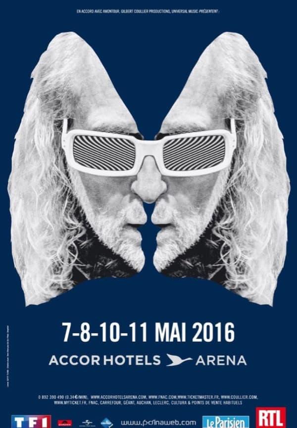 Affiche du prochain album de Michel Polnareff