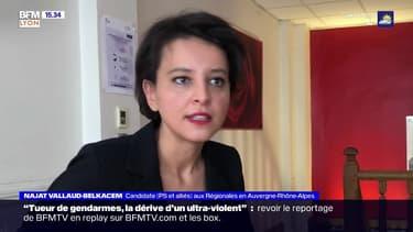 Régionales en Auvergne-Rhône-Alpes: Najat Vallaud-Belkacem attaque Laurent Wauquiez sur son bilan