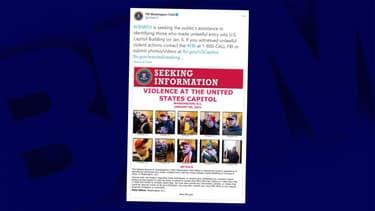 La police fédérale américaine a partagé plusieurs clichés sur les réseaux sociaux montrant des manifestants pro-Trump dans le Capitole.