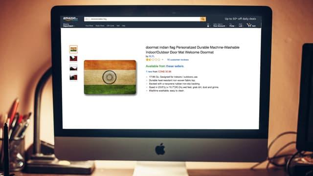 Amazon vient de retirer ce paillasson aux couleurs de l'Inde de la vente.