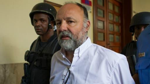 Christophe Naudin à son arrivée à l'audience le 8 mars 2016 au tribunal de Saint-Domingue