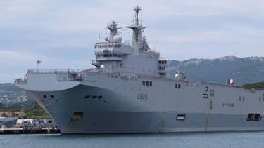 """Le """"Vladivostok"""" a effectué ces dernières semaines des essais en mer au large de Saint-Nazaire dans l'ouest de la France."""