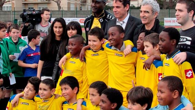 Jamel Sandjak ici aux côtés de Raymond Domenech en 2010