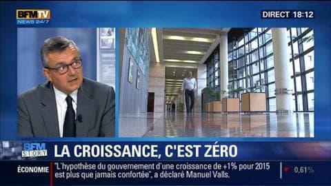 """Croissance zéro (1/2): """"Tous les grands pays de la zone euro font mieux que nous"""", a lancé Yves Jégo"""