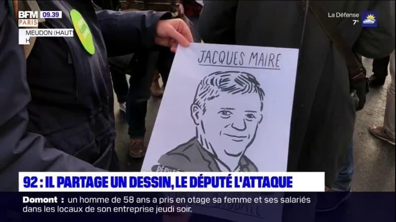 Meudon: un professeur partage un dessin d'un député favorable à la loi Sécurité globale, l'élu dépose plainte