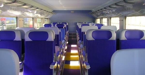 L'intérieur du TGV Inoui
