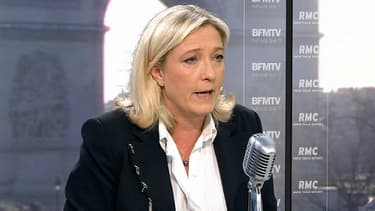 La présidente du Front national, Marine Le Pen, sur BFMTV le 29 mars 2013.