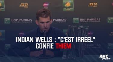 Indian Wells : « C'est irréel » confie Thiem après son sacre face à Federer