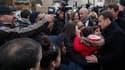 Emmanuel Macron en déplacement à Villeneuve-Saint-Georges, le 14 février 2018