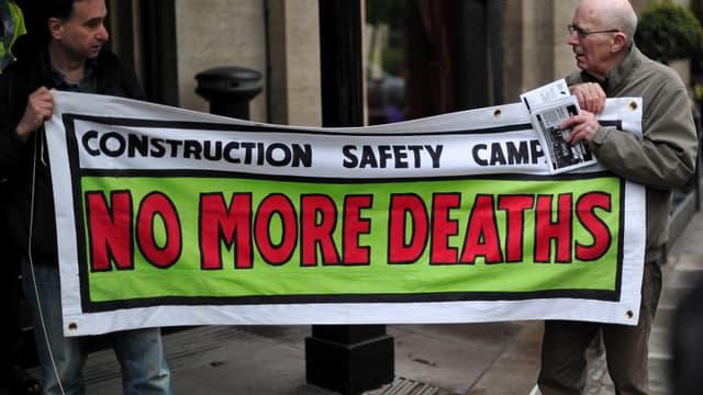 Protestations à Londres contre les conditions de travail au Qatar