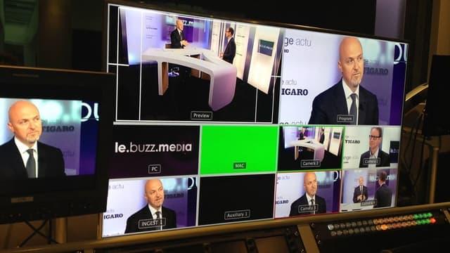 Pierre Louette, président de la Fédération française des télécoms, lors d'une interview