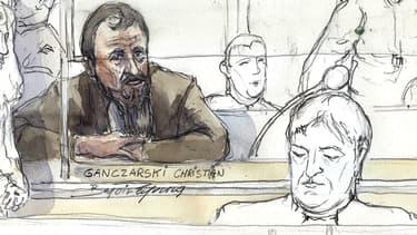Christian Ganczarski, dessiné lors de son procès en 2009.