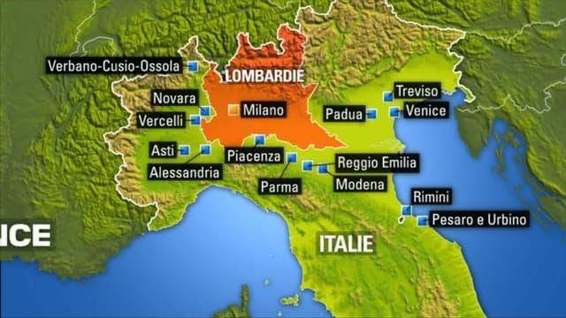 Zones sous quarantaine en Italie depuis dimanche 8 mars au matin