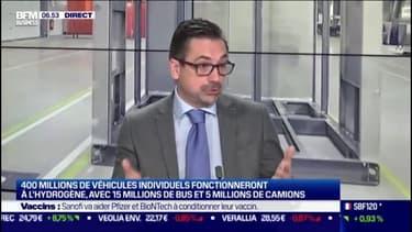 """Philippe Bottu (Directeur général délégué de HRS): """"Il y a 185 stations à hydrogène aujourd'hui en Europe. En 2025, il y en aura 1500"""""""