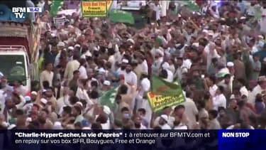 Pakistan: les images d'une manifestation anti-Charlie Hebdo