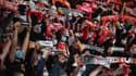 Des supporters rennais contre Krasnodar