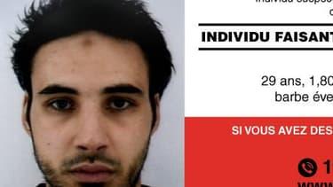 Une photo de Cherif Chekatt, l'auteur présumé de l'attentat du marché de Noël de Strasbourg, qui a fait au moins deux morts, obtenue par l'AFP le 12 décembre 2018