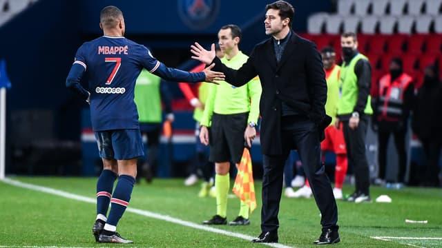 Kylian Mbappé et Mauricio Pochettino - Paris SG