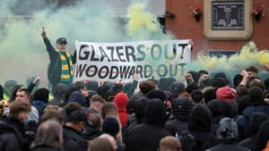 Des supporters de Manchester United avant la rencontre contre Liverpool
