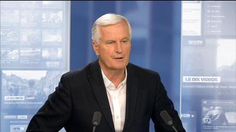 """Michel Barnier à propos d'Alexis Tsipras: """"Je crois qu'il se trompe"""""""