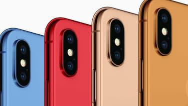 Les futurs coloris des iPhone X?