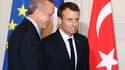 Recep Tayyip Erdogan et Emmanuel Macron, le 5 janvier 2018.