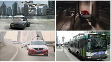 Les solutions innovantes contre les bouchons comme les voitures volantes, autonomes ou dans des tunnels futuristes, ou les plus classiques, comme les transports en commun.