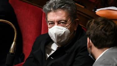Jean-Luc-Mélenchon à l'Assemblée nationale le 16 février 2021