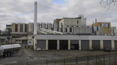 L'usine Lactalis de Craon en Mayenne.