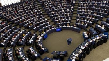 Les membres du Parlement européen, le 25 octobre 2017