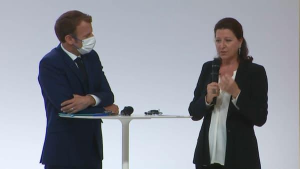 Emmanuel Macron et Agnès Buzyn à Lyon.