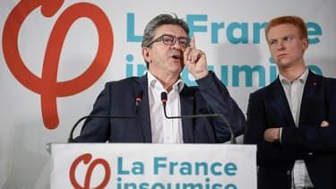 Jean-Luc Mélenchon au siège de la France insoumise le 19 octobre 2018. - Eric FEFERBERG / AFP