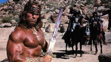 "Arnold Schwarzenegger dans ""Conan le Barbare"" en 1982"