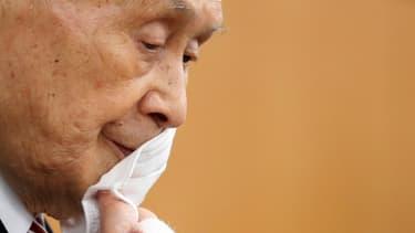 Yoshiro Mori, le président du comité d'organisation des JO de Tokyo, le 4 février 2021 à Tokyo