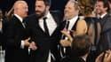 Harvey Weinstein entouré entre autres de Ben Affleck et Bradley Cooper.