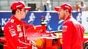 Charles Leclerc et Sebastian Vettel