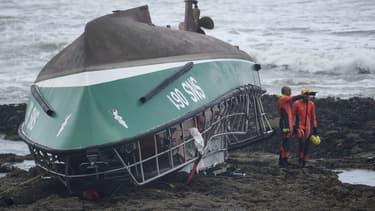 Le bateau de la SNSM ayant fait naufrage