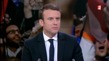 Emmanuel Macron, mardi 25 avril au 20 Heures de France 2.