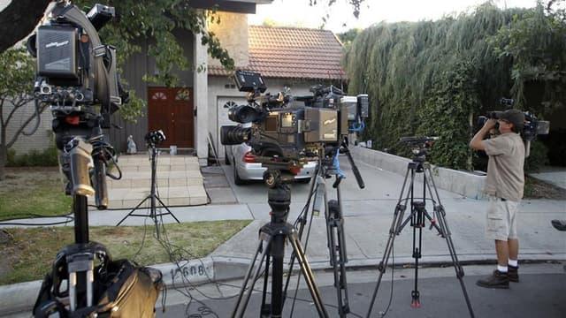 Devant le domicile de Nakoula Basseley Nakoula, en Californie
