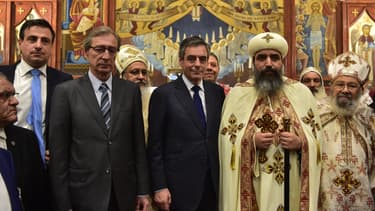 François Fillon a assisté à une messe copte à l'occasion des festivités de Pâques, le 15 avril.