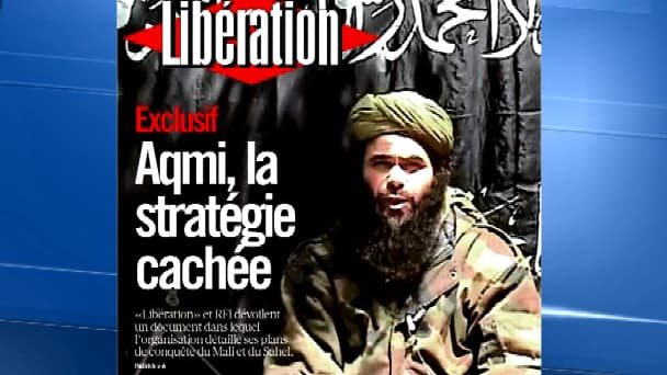 Le chef d'Aqmi, Abdelmalek Droukdel, en Une de Libération, lundi 7 octobre.