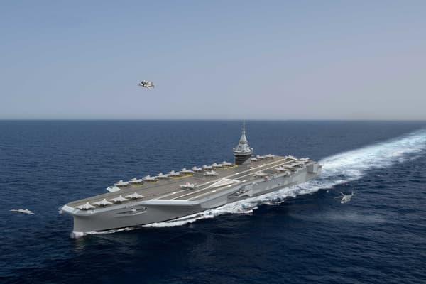 Le futur porte-avions.