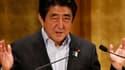 Shinzo Abe, lors de son discours, ce mercredi 5 juin
