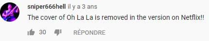Un commentaire Youtube