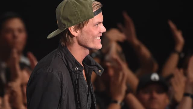 Avicii lors des iHeartRadio Music Awards à Los Angeles, le 1er mai 2014