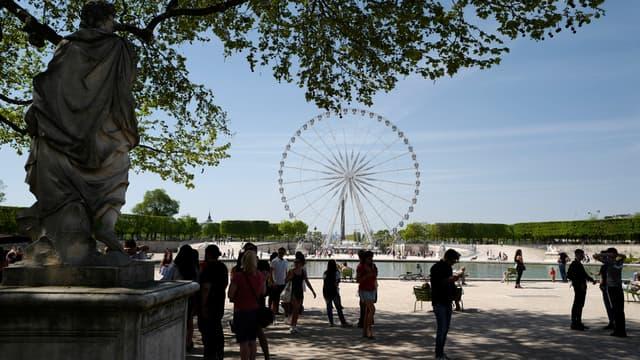 Le jardin des Tuileries (illustration)