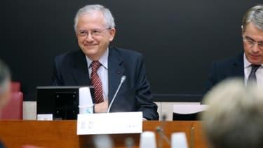 Le président du CSA Olivier Schrameck et le président de la commission des affaires culturelles Patrick Bloche