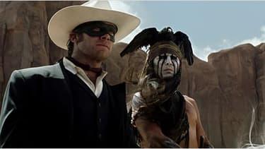Photo du tournage de The Lone Ranger, qui n'a pas rapporté suffisament pour couvrir les dépenses de production.